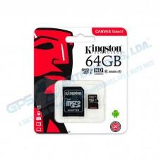 Cartão de Memória Kingston CanvasSelect SDCS - 64GB 80Mb/s