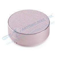 Coluna Bluetooth Metal Rosa Nedis