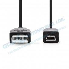 Cabo Nedis USB - Mini USB 5m